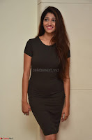 Priya Vadlamani super cute in tight brown dress at Stone Media Films production No 1 movie announcement 008.jpg