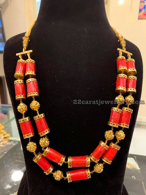 Coral Beads Haram in Two Layers
