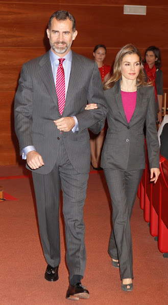 Prince Felipe and Princess Letizia attended the Santander Scholarships Delivery in Madrid