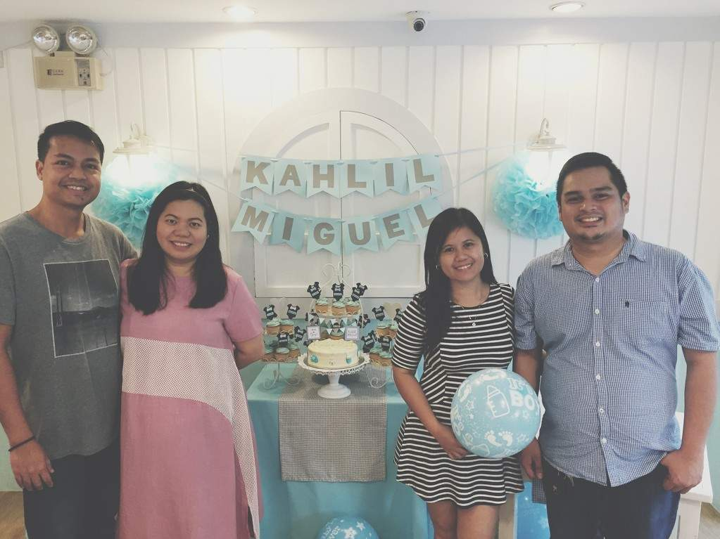 Photo with our officemates during our Stacy's BGC baby shower