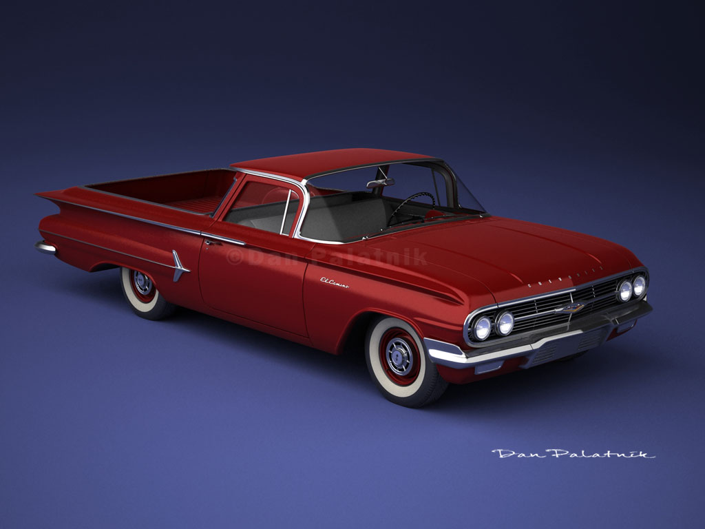 A Garagem Digital De Dan Palatnik The Garage Project 1960 1954 Chevy El Camino Chevrolet