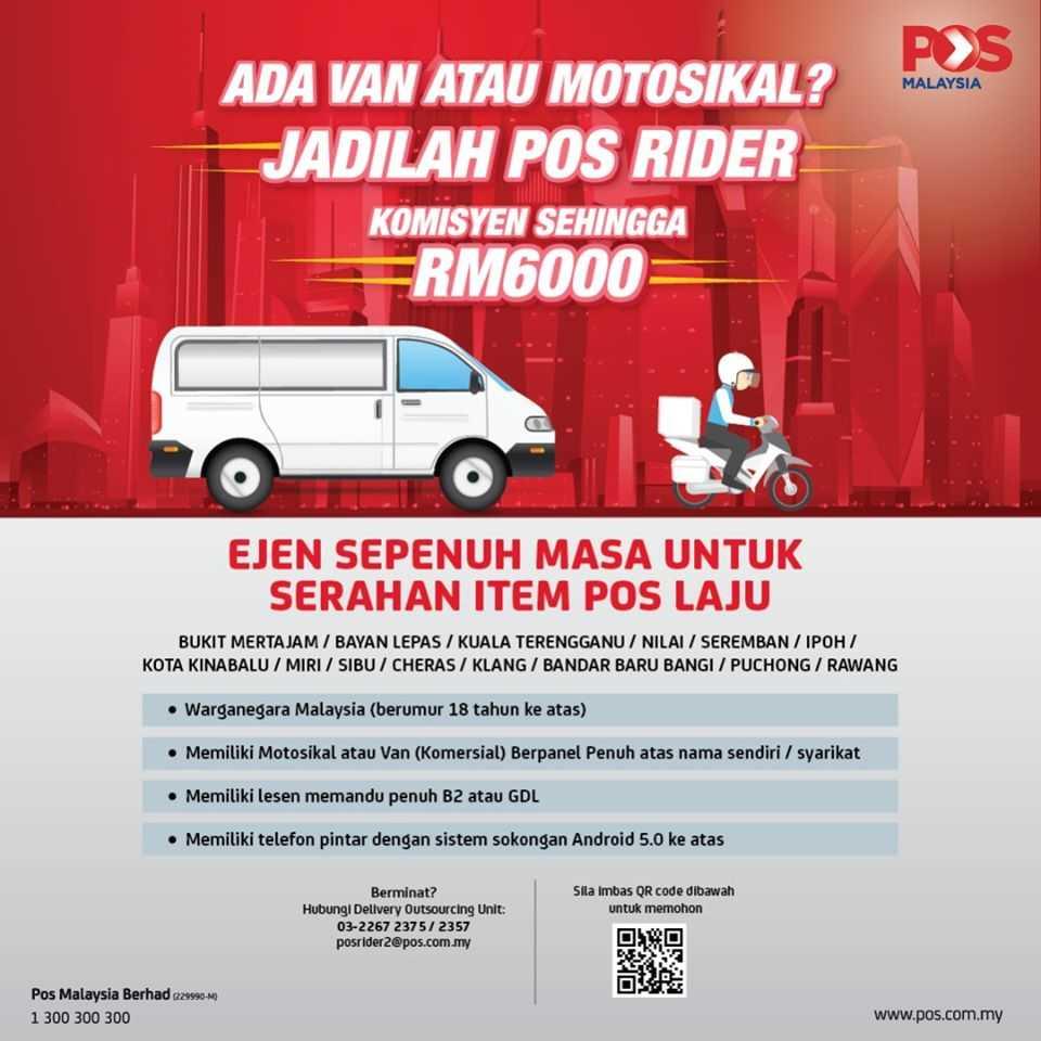 Jawatan Kosong Terkini 2020 Di Pos Malaysia Berhad Komisyen Sehingga Rm6 000 00