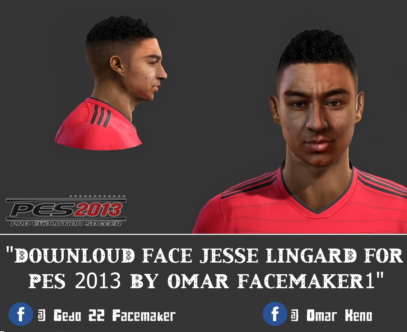 Face Jesse Lingard For Pes 2013