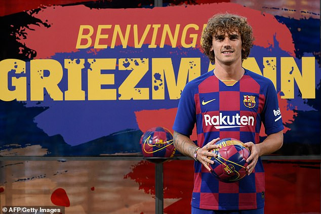 Barcelona unveil Antoine Griezmann following £108m move from Atletico Madrid, reveal his shirt No.