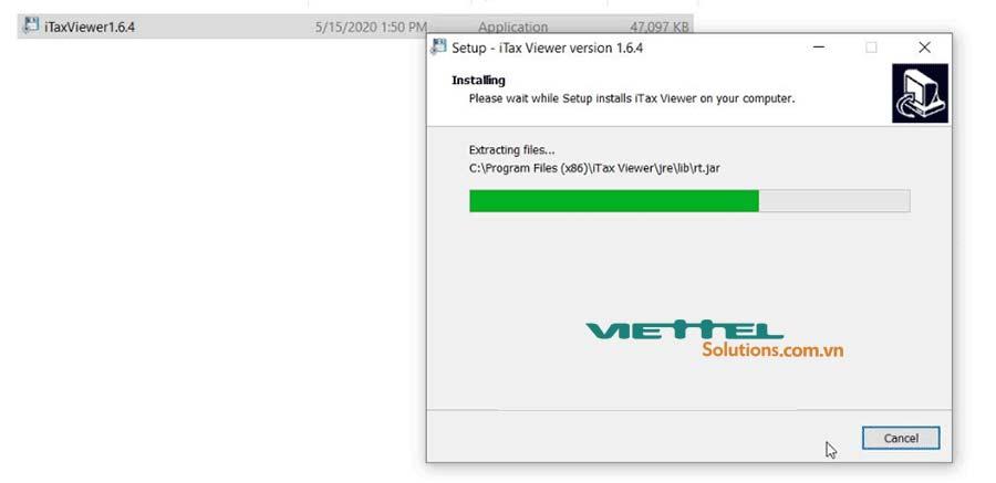 Hình 5 - Quá trình cài đặt iTax Viewer 1.6.4