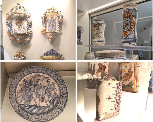 Oggettistica del museo delle maioliche di Laterza