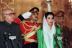 benazir bhutto taking oath