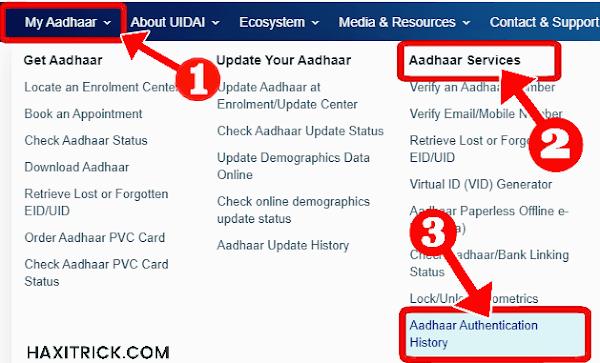 Aadhaar Card Authentication History