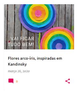 Flores arco-íris, inspiradas em Kandinsky