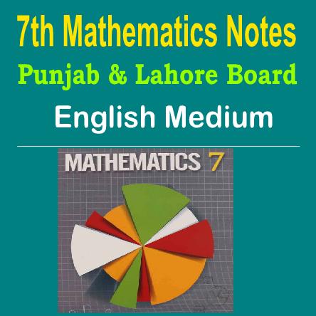 7th Math English Medium Notes