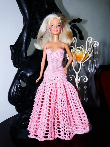 Vestido Longo de Crochê Para a Barbie - Por Pecunia MillioM 2