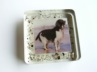 Ashes and photograph custom made paperweight