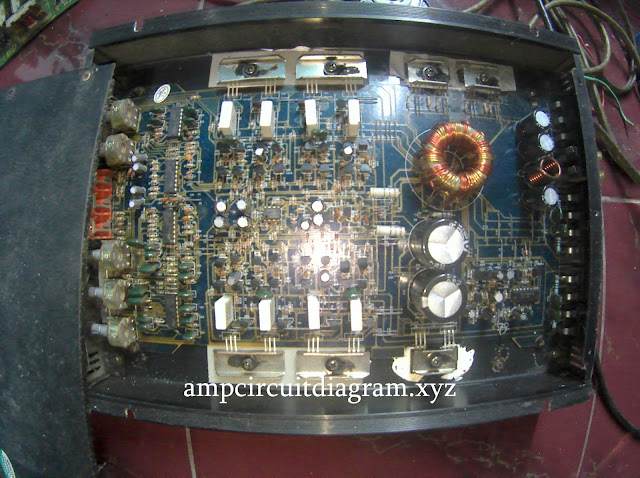 Car power amplifier PCB and Component's