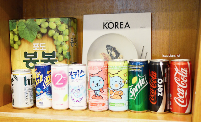They serve Korean drinks as well