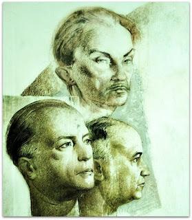 João Fahrion e Os Irmãos Tasso e Ernani Correa - 'As Artes', Aldo Locatelli (1958) - Instituto de Artes da UFRGS, Porto Alegre