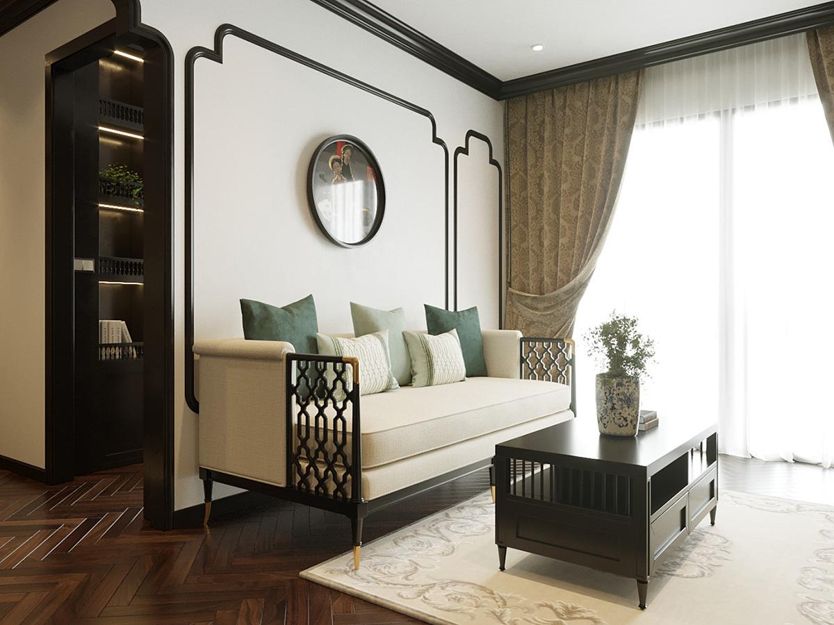 Thiết kế nội thất căn hộ 43m2 Vinhomes Smart City