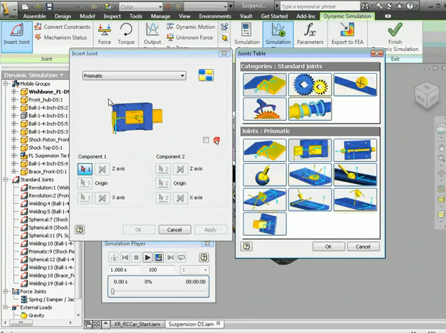 How to make a 3D Dynamic Simulation in the program Autodesk Inventor