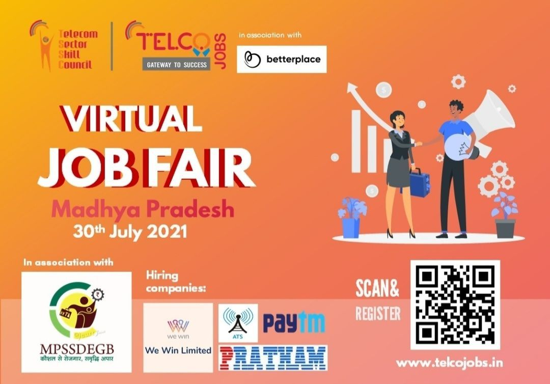Virtual Job Fair For Telecom Sector Jobs Opportunities for 10th, 12th Pass, ITI and Diploma holders    Apply Now