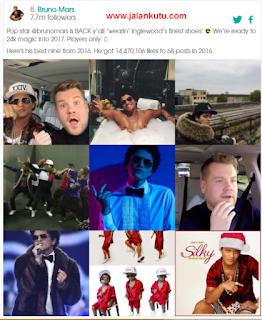 Best nine Bruno Mars