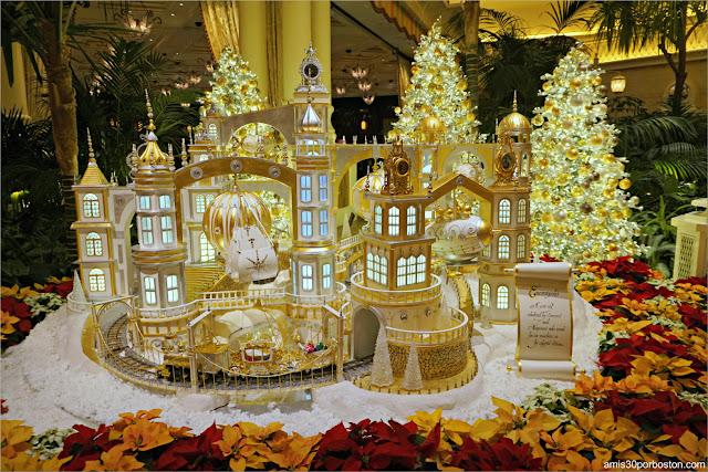 Decoraciones de Navidad en el Hotel Encore en Las Vegas, Nevada