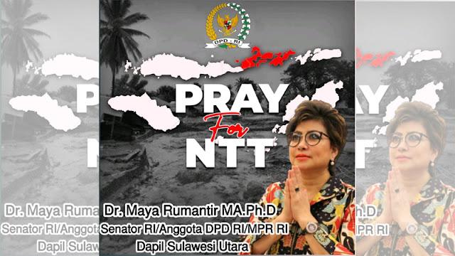 Senator Maya Rumantir Suarakan Musibah di NTT Jadi Bencana Nasional