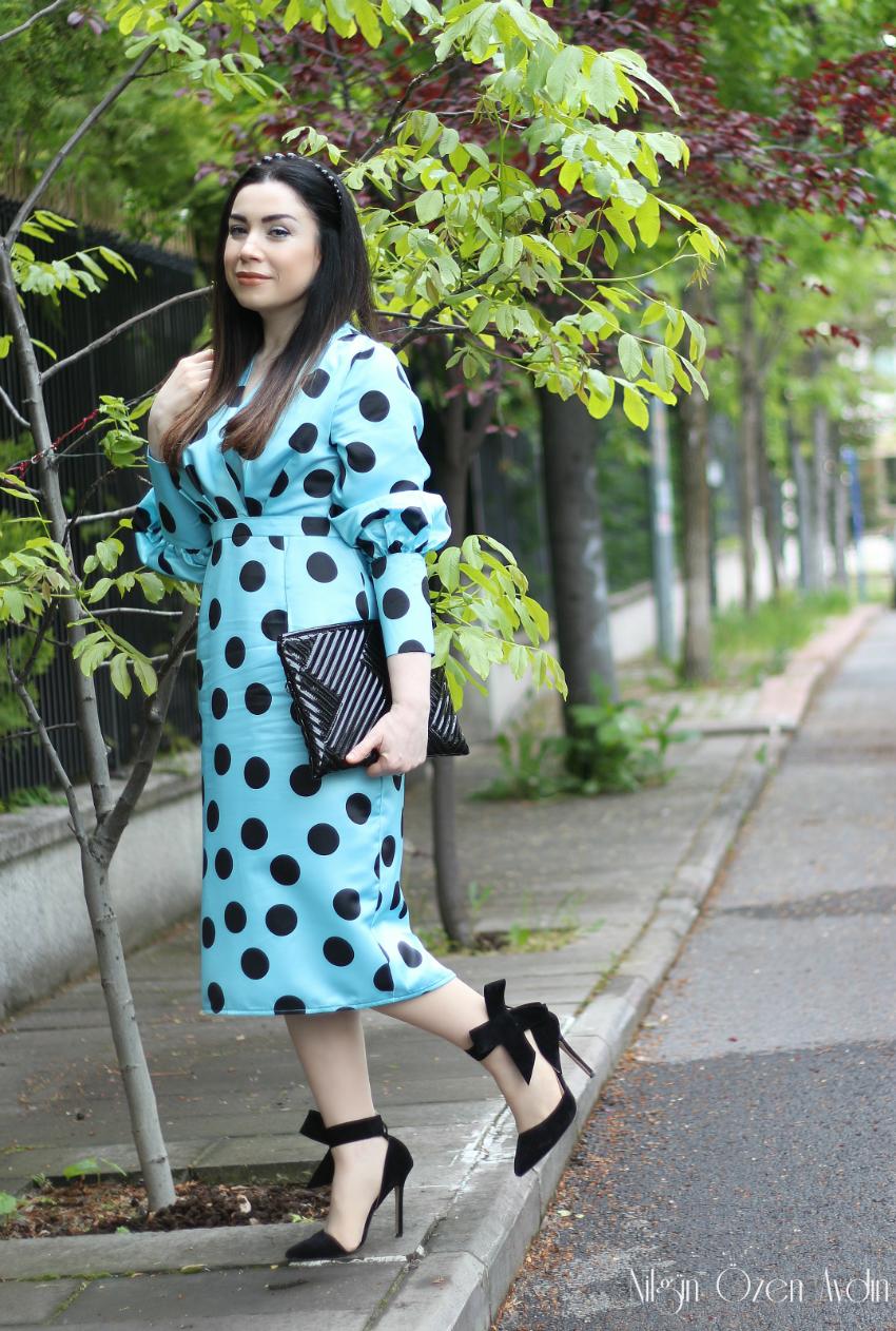 Puantiye modası-leopar modası-vintage-Puantiyeli elbiseler-alışveriş-moda blogu-fashion blogger