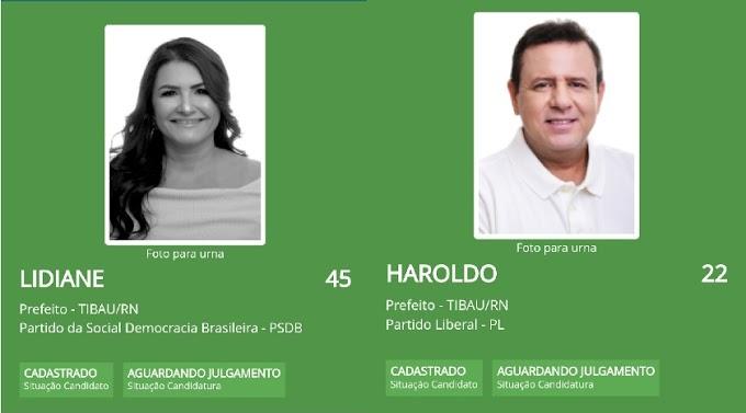 Tibau: Lidiane e Haroldo tem candidaturas registradas no TSE