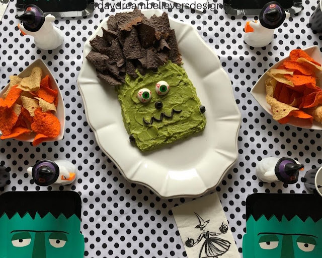 Frankenstein Guacamole is Awesome for Halloween.