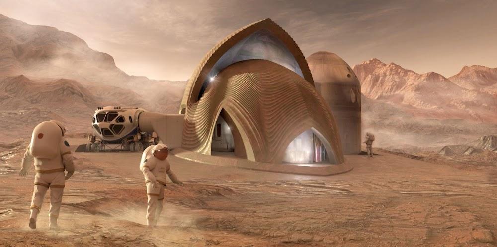Home on Mars by SEArch+ Apis Cor (NASA's 3D-Printed Habitat Challenge)