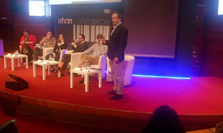 Foto de la mesa redonda Urban Commerce con Cristina Juesas, Gonzalo García Conde, María Rueda, Bere Casillas, Jonathan MacCallum e Ismael Migoya