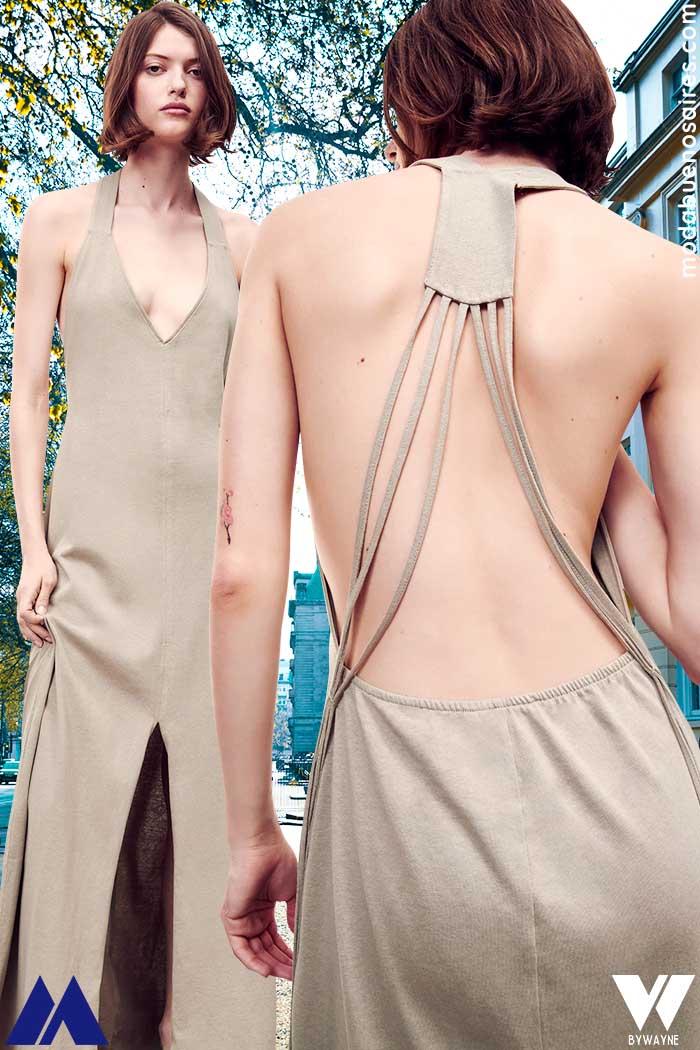 Vestidos espalda descubierta con tiras verano 2022
