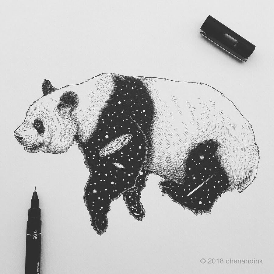 12-Panda-Astral-Animals-Chen-Naje-www-designstack-co