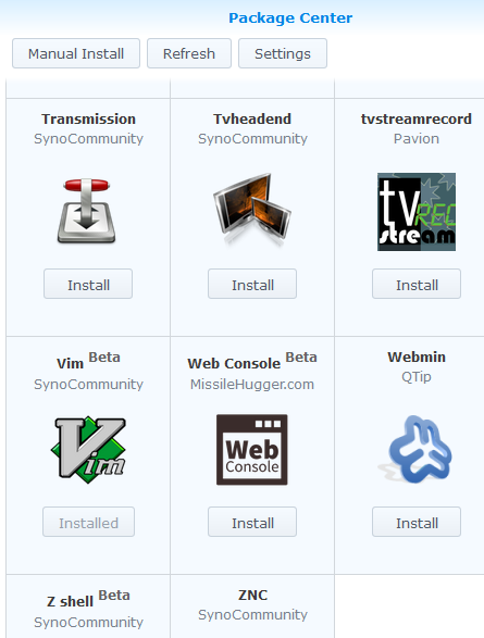 A champagne supernova in the sky: Install vim on Synology DiskStation
