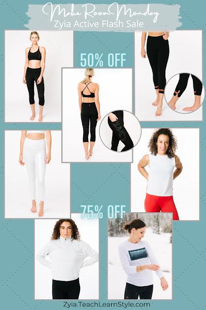 zyia active sales, zyia flash sale, zyia make room monday sale, zyia sale, zyia active discounts