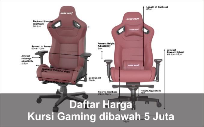 daftar harga kursi gaming dibawah 5 juta