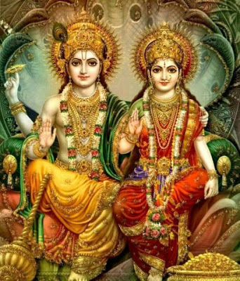images of lord vishnu and lakshmi