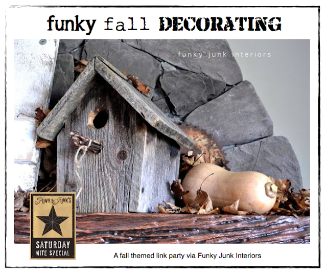60+ FUNKY FALL DECORATING ideas - a themed linkup party via Funky Junk Interiors