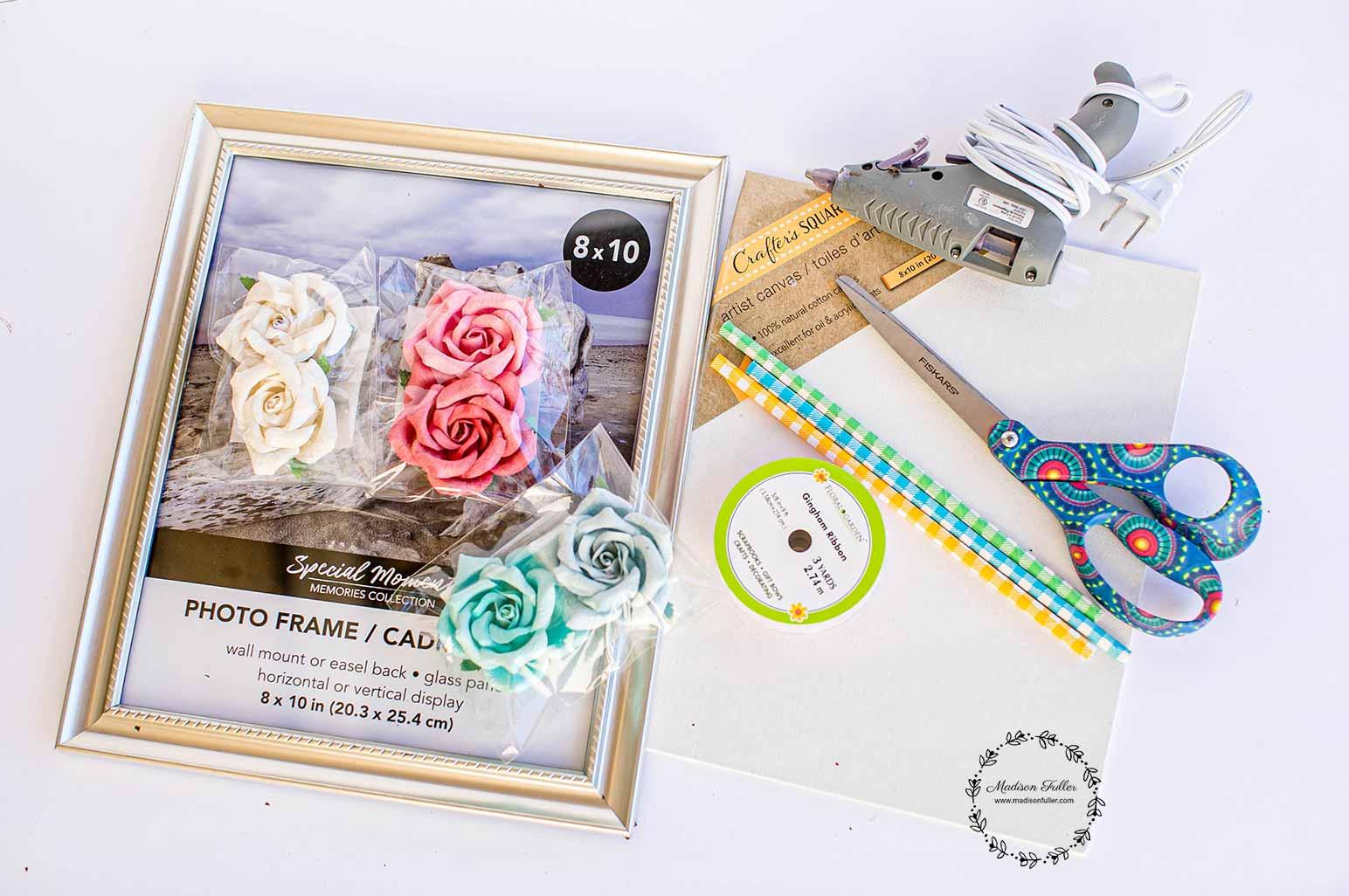 DIY Framed Bouquet Supplies