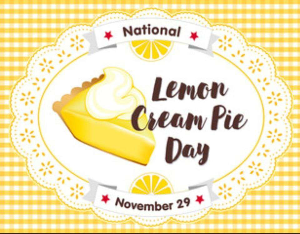 National Lemon Cream Pie Day Wishes pics free download