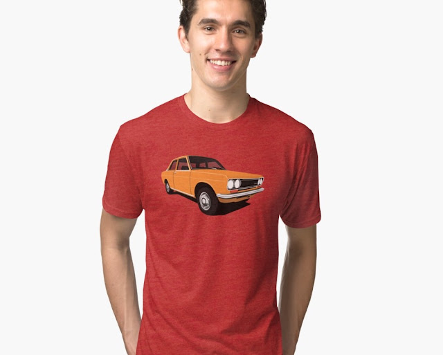 Orange retro Datsun Bluebird 1600 510 t-shirt