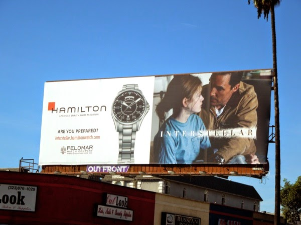 Interstellar Hamilton watch tie-in billboard