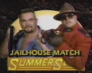 WWF / WWE: Summerslam 1991 -  The Big Boss Man and The Mountie clashed in a 'Jailhouse match'