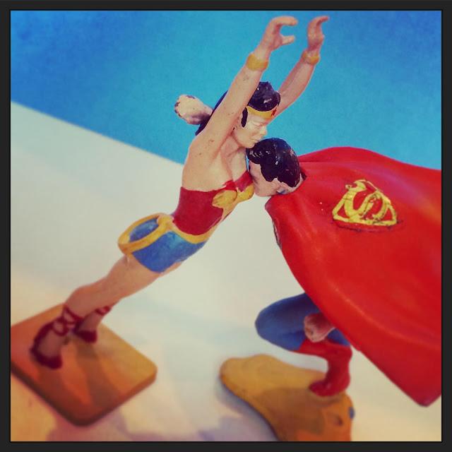 Ideal Playset Wonder Woman Superman