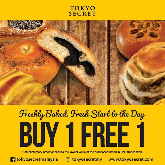 Tokyo Secret Menawarkan Promosi Beli 1 Percuma 1!