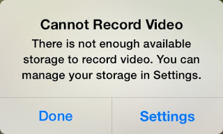 Free space in iPhone