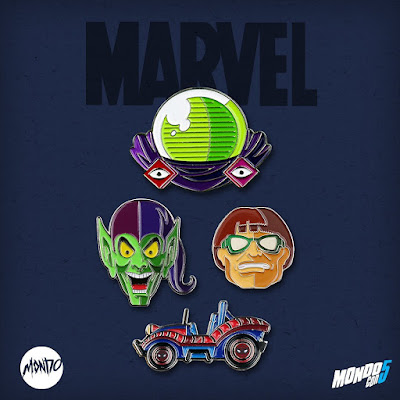 MondoCon 2019 Exclusive Spider-Man Marvel Portrait Enamel Pins by Tom Whalen x Mondo
