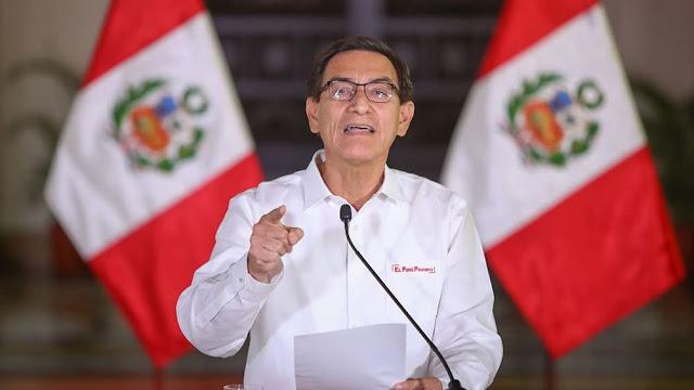 Ocho de cada 10 peruanos apoyan al presidente Vizcarra ante su eventual destitución