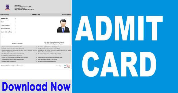 SSB Admit Card