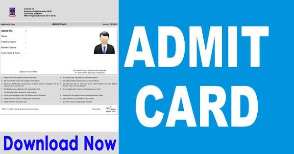 ITBP Constable Tradesman Written Test Admit Card