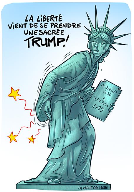 statue de la liberté s'est pris une fessée